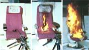 座椅燃烧测试
